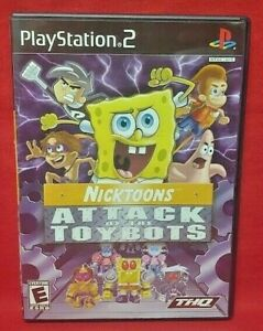 Nicktoons-Attack-of-Toybots-PS2-Playstation-2-COMPLETE-Game-1-Owner-Mint-Disc