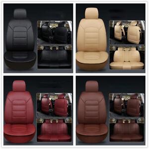 5-Car-Seats-PU-leather-Car-Seat-Cover-Front-amp-Bear-Seat-Cushions-Pad-Full-Set-UK