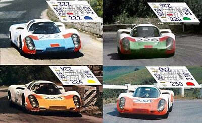 Calcas Ferrari 206S Dino Targa Florio 1968 206 1:32 1:43 24 18 64 87 slot decals
