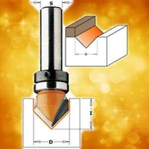 CMT-V-Groove-Router-Bit-with-bearing-90-1-2-034-diameter-1-4-034-shank-815-127-11B