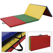 "4'x8'x2"" PU Gymnastics Mat Gym Folding Panel Yoga Exercise Tumbling Pad 4 Colors"