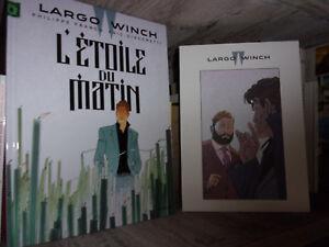 Largo-Winch-L-039-etoile-du-matin-Tirage-limite-Ex-libris-Dossier-graphique-BD