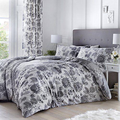 Dreams  Drapes Easy Care Duvet Cover Set  Super-King Size  Grey Marinelli