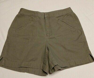 Size 8 Tireless Liz Claiborne Shorts 100% Cotton Lizwear Khaki