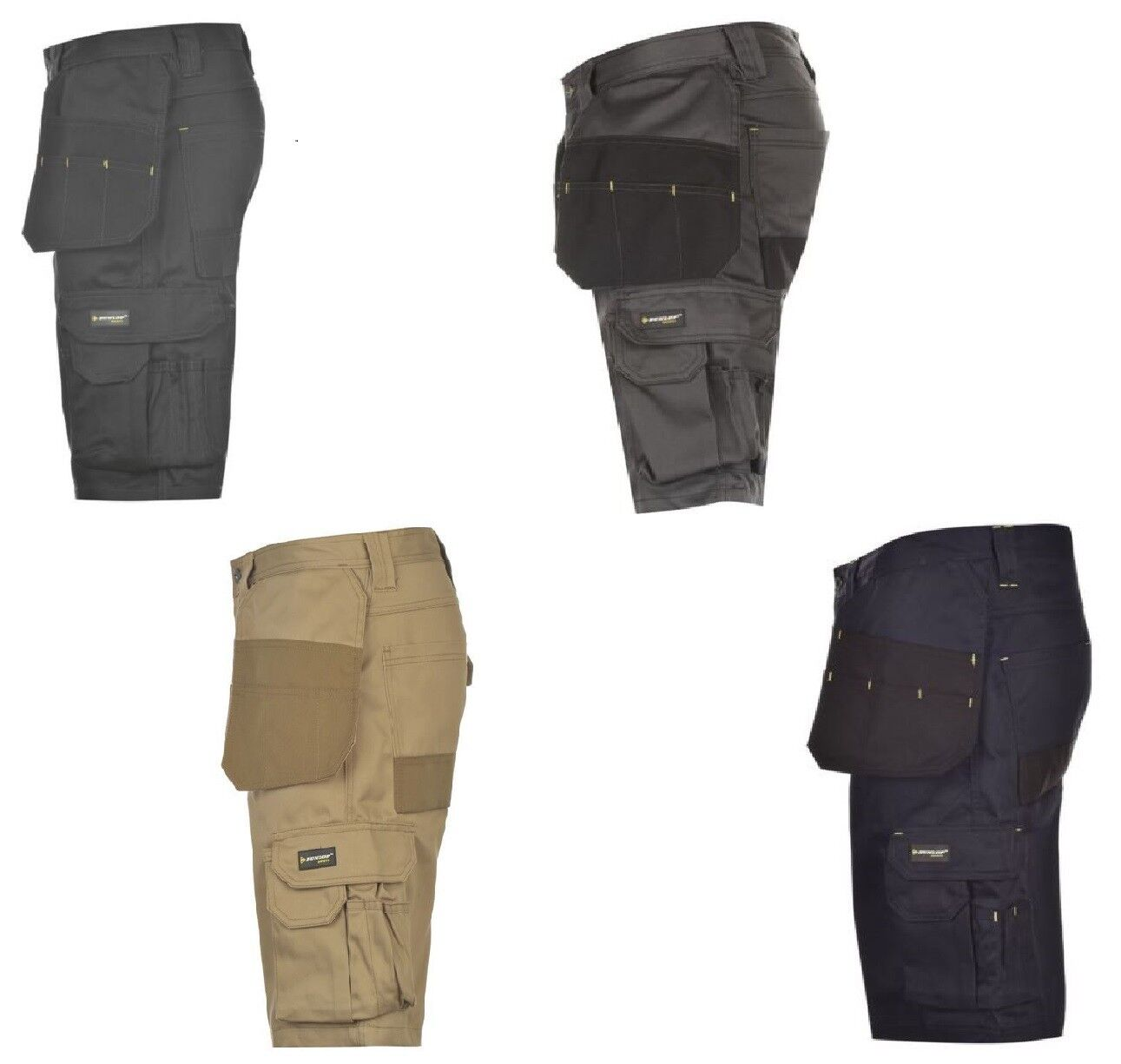 MENS DUNLOP ON SITE WORKWEAR SHORTS-RRP .99-VARIOUS COL SIZES-SALE 15% OFF