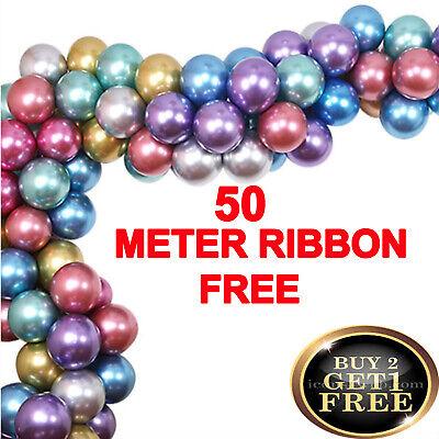 """50X12/"""" Inch MIX Latex Helium Balloon Pearl Crystal Balloon metallic"""