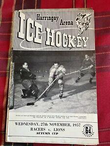 Harringay Arena Ice Hockey Programme 27/11/1957