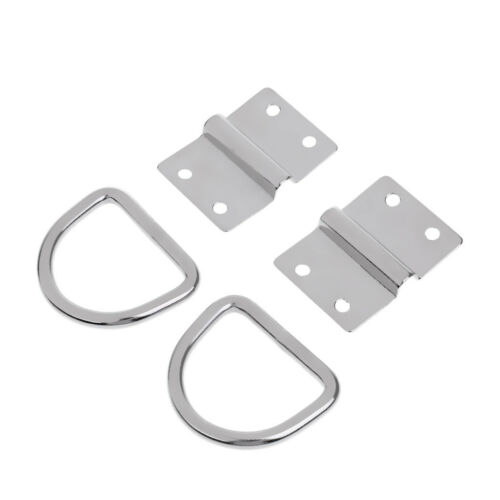 Surface Mount D Ring Lashing Point Fixing Cleat 2x Stainless Steel Tie Down