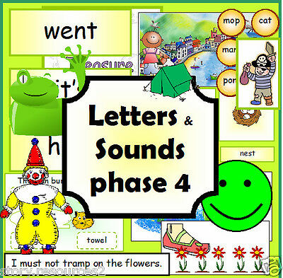 Letters and Sounds Phase 4  resource phonics literacy EYFS KS1 childminder on CD
