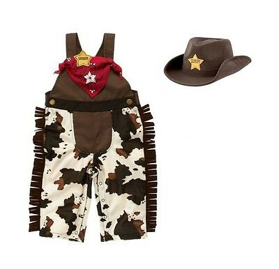 Baby Boy Girl Cowboy Western Sheriff Fancy Party Costume Outfit+Hat Set 3-18M