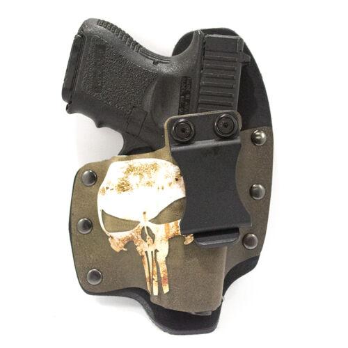 IWB Hybrid Kydex Holster Punisher Green /& Tan for GLOCK Handguns