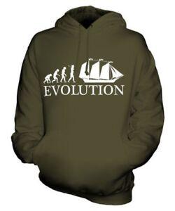 Of Felpa Evolution Unisex Goletta Cappuccio Regalo Idea Con Man Maglia Barca IxAwqq