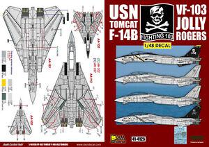 STICKER USN F14 TOMCAT JOLLY ROGERS