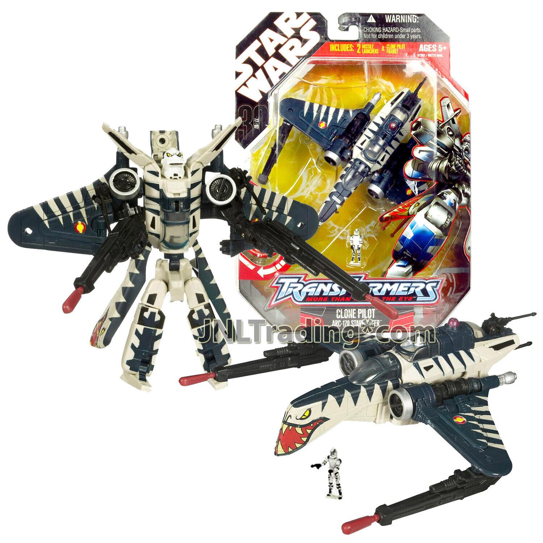 2007 Estrella Wars Transformers 7 Year pulgadas Figura Clon Piloto ARC-170 Estrellafighter