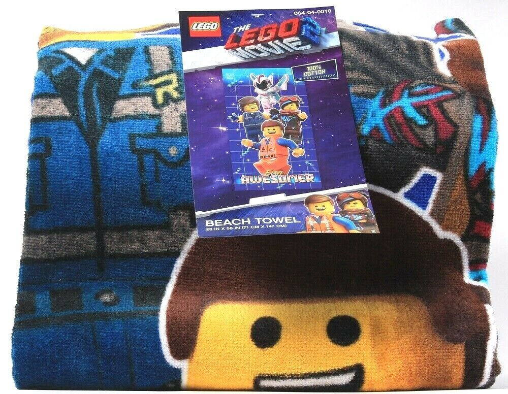 1 Count Franco Manufacturing The Lego Movie Beach Towel 28 in X 58 in Cotton