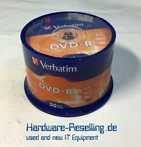 Verbatim Dvd-R Rohlinge 4,7GB 16x 120min Single Sided 50-er Broche