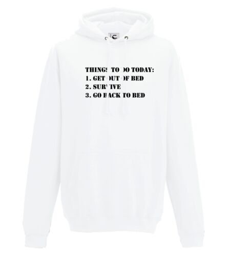 Funny sayings jokes hoodie things to do today gift jumper adult /& kids sizes