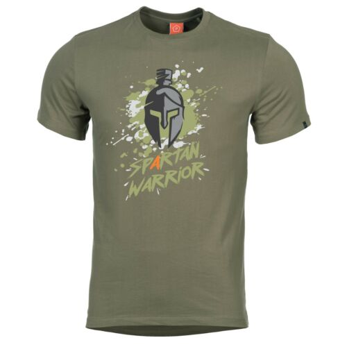 Pentagon Spartan Warrior Tactical Military Army Short Sleeve Crew T-Shirt Green