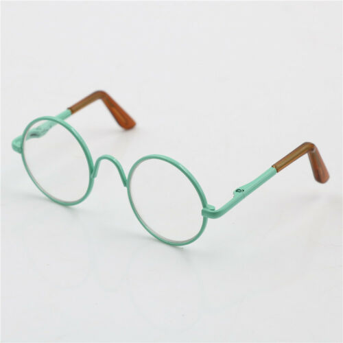Round Frame Clear Lens Eyewear Glasses for 12/'/' Blythe Dolls Accessory Fad G*HWC