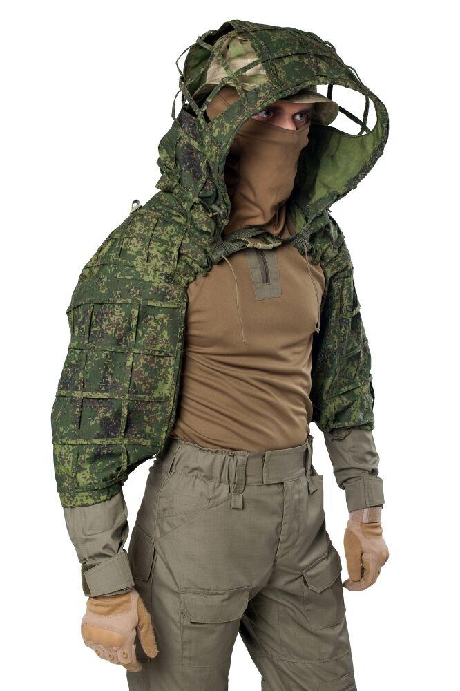 Disguise  Sniper Coat  Scorpion    Viper Hood EMR Digital Flora by Giena Tactics  best quality