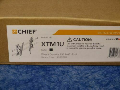 NEW Chief XTM1U X-Large Fusion Micro-Adjustable Tilt Wall Mount 55-100, 250Lbs. Available Now for 168.99