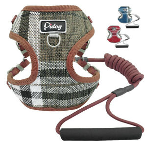 Front-Lead-Small-Dog-Harness-amp-Leash-Foam-Handle-Mesh-Padded-Pet-Puppy-Cat-Vest-S