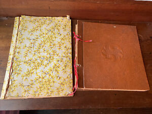 Vintage-Lot-of-2-1930-s-And-1950-s-Used-Scrap-Books-Empty-Photo-Album