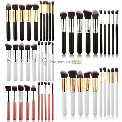 10Pcs Cosmetic Makeup Brushes Set Foundation Face Powder Eyeshadow Blush Tools