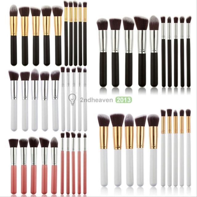10Pcs Cosmetic Makeup Brushes Set Foundation Face Powder Eyeshadow Blush Tools