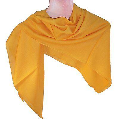 Halstuch 100 x 100 cm orange einfarbig Baumwolle Uni Tuch Kopftuch PORTOFREI