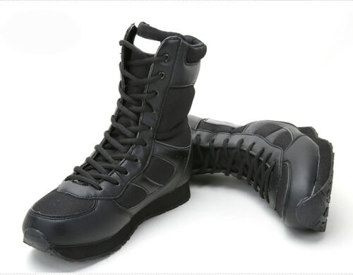 Desert Army Shoes Military Leather Swat Tactical Outdoor Uomini Combat Boots Hiking wXqgABB