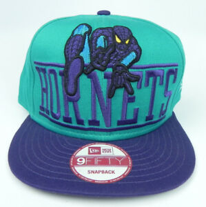 CHARLOTTE-HORNETS-NBA-MARVEL-SPIDERMAN-NEW-ERA-RETRO-SNAPBACK-CAP-HAT-NWT-RARE
