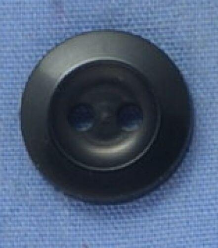 11mm Black 2 Hole Button x 5 buttons
