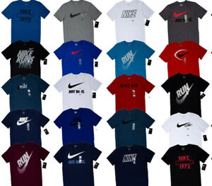 185f6555 Men's NIKE T SHIRT Size S-3XL Graphic Tee Just Do It Logo Crew Neck ...
