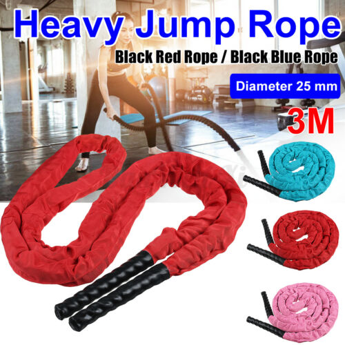 Heavy Fitness Weighted Skipping Rope Jump Rope 3M Adult Battle Training Gym Home
