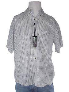 mondial-camicia-uomo-bianco-pallini-manica-corta-taglia-l-large