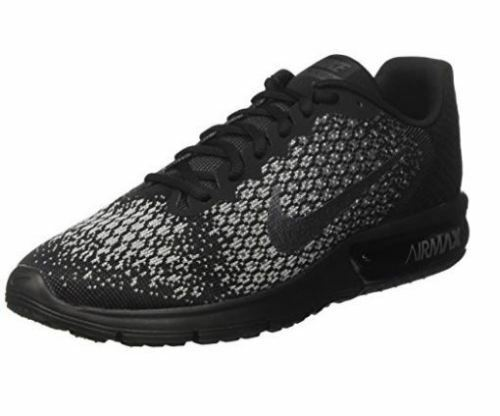 78b69267e0dfa Nike Air Max Sequent 2 2 2 Men s Running Shoe Black MetallicHematite-Grey  size 10.5 b09c4c
