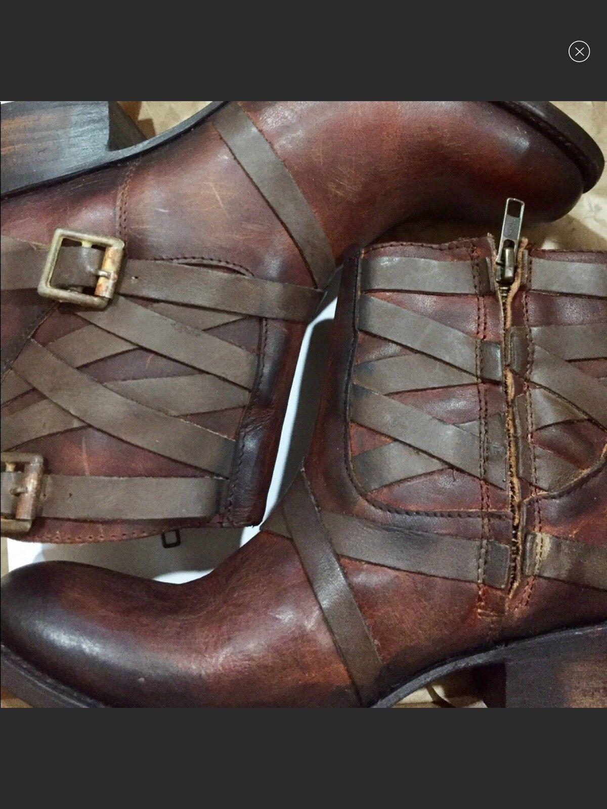 Nuevas botas Freebird por Steven Sammy Coñac Nuevo en en Nuevo Caja de tamaño 6 49c5d6