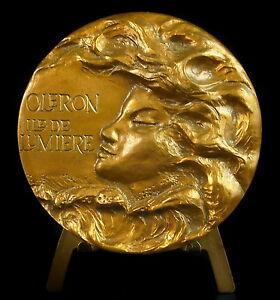 Medalla-Oleon-Isla-de-lumiere-alegoria-de-la-la-mer-alegoria-of-the-sea-medal