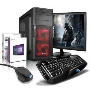 """i7 Gaming Komplett PC+ 24"""" TFT GTX 1050 8GB 1TB Computer Windows 10 Sharkoon"""