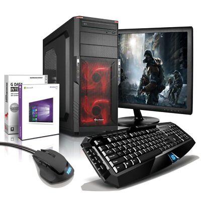 """i7 Gaming Komplett PC+ 24"""" TFT GTX 1060 8GB 1TB Computer Windows 10 Sharkoon"""