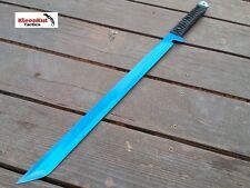 "27"" BLUE  Blade NINJA SWORD Katana Full Tang Machete TACTICAL Zombie Survival"