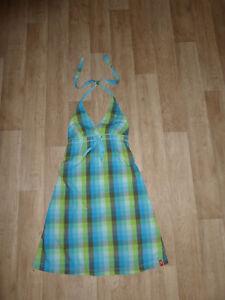 Das Bild wird geladen EDC-by-ESPRIT-Neckholder-Kleid-Kariert-Gr-34- 9d68c0934e