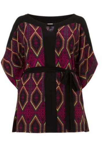 Kimono Gr.46+48//50+58//60 Tunika Hängerchen Longtunika Schulterfrei Poncho pink s