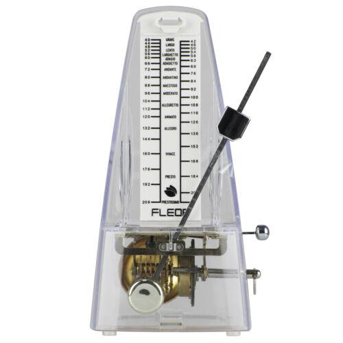 FLEOR Transparentes Mechanisch Metronom Gitarre Klavier Geige Musik Tempo Beat