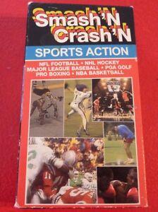 Rare-VHS-Movie-Smash-039-n-Crash-039-n-Sports-Action-NFL-NHL-PGA-Boxing
