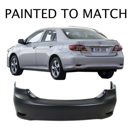 Painted to Match 2011 2012 2013 Toyota Corolla Base Rear Bumper
