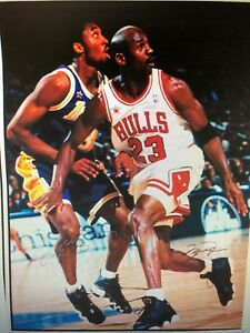 e77849fad53 MICHAEL JORDAN KOBE BRYANT 24X36 POSTER NBA BASKETBALL LEGENDS ICON ...