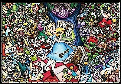 Disney Stained Glass Puzzle.Jigsaw Puzzle Disney 1000 Pcs Alice In Wonderland Stained Glass At1126 For Sale Online Ebay