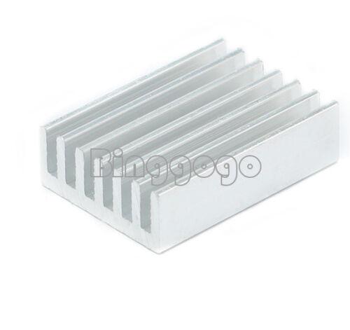 20PCS Silver Tone 20x14x6mm Rectangle Aluminium Heat Sink Cooling Cooler Fin